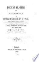 Invencion del cuerpo de S. Antonio abad: é Historia de la hija del rey de Hungria