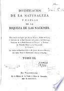 Investigacion de la naturaleza y causas de la riqueza de las naciones
