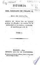 Istoria [sic] del reinado de Felipe II, rei [sic] de España