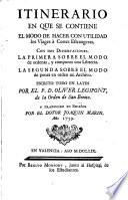 Itinerario en que se contiene el modo de hacer con utilidad los viages a Cortes Estrangeras