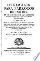 Itinerario para párrocos de indios