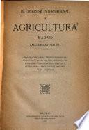 IX Congreso internacional de agricultura