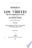 J. A. Manso de Velasco, conde de Superunda [1761]; M. Amat y Yunient [1773