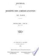 Journal de la Société des américanistes de Paris