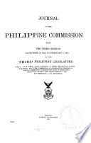 Journal of the Philippine Commission