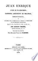 Juan Enrique Conde de Frankenberg, Cardenal Arzobispo de Malinas, primado de Bélgica, y su lucha por la libertad de la Iglesia y conservación de los seminarios episcopales. Bajo el imperio de José II