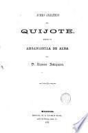Juicio analítico del Quijote