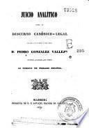 Juicio analítico sobre el discurso canónico-legal