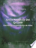 Juicio Anal?tico Del Quijote