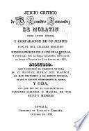 Juicio critico de D. Leandro Fernandez de Moratin como autor cómico, y comparacion de su merito con el del celebre Moliere