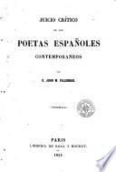 Juicio crítico de los poetas españoles contemporáneos