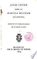 Juicio Crítico sobre la Marina Militar de España