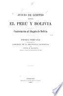 Juicio de límites entre el Perú y Bolivia : Contestación al alegato de Bolivia