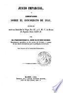 Juicio imparcial y comentarios sobre el concordato de 1851