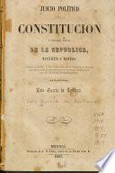 Juicio político sobre la constitución y situación actual de la republica