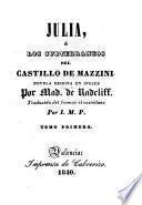 Julia, ó los subterraneos del castillo de Mazzini