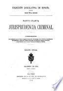 Jurisprudencia criminal