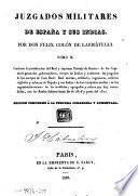 Juzgados militares deHEspaña y sus Indias