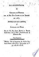 La Alonsíada ó conquista de Menorca por el Rey Don Alonso III. de Aragon en 1287 é illustrado con notas