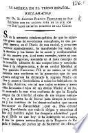 La America en el trono Español. Exclamacion ... que da alguna idea de lo que son los Diputados de estos dominios en las Córtes
