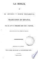 La Biblia, tr. por P. Scio de S. Miguel