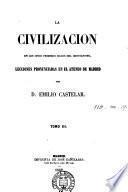 La civilización en los cinco primeros siglos del cristianismo, lecciones