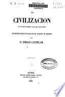 La civilización en los primeros siglos del Cristianismo