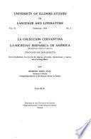 La colección cervantina de la Sociedad Hispánica de América
