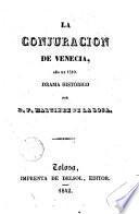La conjuración de Venecia, año de 1310