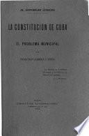 La constitución de Cuba y el problema municipal