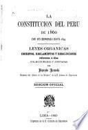 La constitución del Perú de 1860 con sus reformas hasta 1893