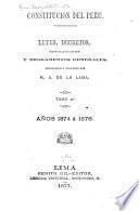 La constitución del Peru