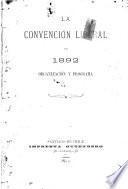 La Convención liberal de 1892
