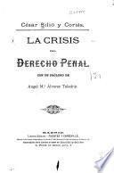 La crisis del derecho penal
