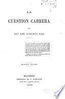La cuestión Cabrera