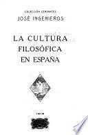 La cultura filosófica en España