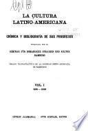 La cultura latino-americana: 1915-1918