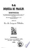 La Duquesa de Praslin
