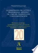 La enseñanza de la ética profesional: estudio de caso en Traducción y Documentación