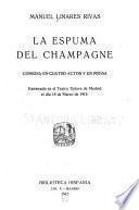 La espuma del champagne