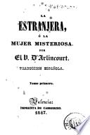 La Estranjera, ó, La mujer misteriosa