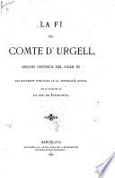 La fí del comte d'Urgell