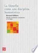 La filosofía como una disciplina humanística