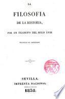 La Filosofía de la Historia por un filósofo del siglo XVIII