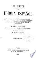 La fuente del idioma español