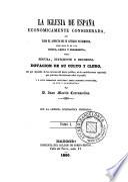 La Iglesia de España económicamente considerada