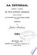La impiedad, errores y sofismas de Juan Santiago Rousseau