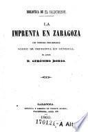 ... La imprenta en Zaragoza