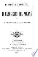 La industria Argentina y la exposicion del Paraná