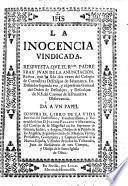 La Inocencia vindicada. Respuesta a un papel contra el libro de la vida interior de Juan de Palafox y Mendoza